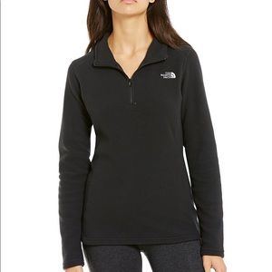 The North face  black fleece pullover/ sweater